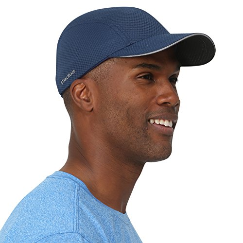 TrailHeads Race Day Running Cap -  Performance Hat - 5 Colors - Navy