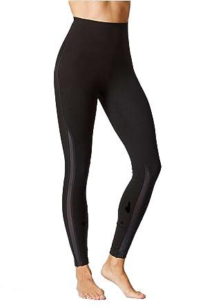 071a03e6da86d Women's Shaping Slimming Tummy Control with Figure Firming Standard Waist  Mesh Detail Panel Leggings Black-4XL-: Amazon.co.uk: Clothing