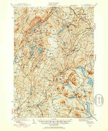 YellowMaps Plainfield VT topo map, 1:62500 Scale, 15 X 15 Minute, Historical, 1940, Updated 1953, 20.8 x 17 in - Paper -