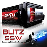 OPT7 BLTZ 55W H4 9003 Hi-Lo HID Kit - 3X Brighter - 4X Longer Life - All Bulb Sizes and Colors - 2 Yr Warranty [10000K Deep Blue Xenon Light]