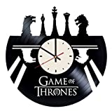 Game Thrones Chess Board Vinyl Wall Clock Unique Gifts Living Room Home Decor