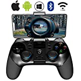 Mobile Game Controller,ZUOXI 2.4G Wireless 4.0 Bluetooth Gamepad with Joystick, Multimedia Game Controller Compatible with iOS Android Mobile Phone PC Android TV Box Without Rooting