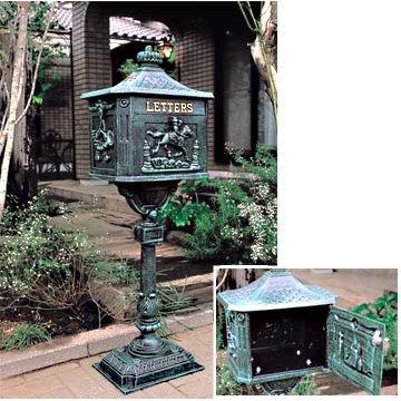 ビクトリアメールボックス(ポスト)[青銅色の鋳物製郵便受け] ノーブランド品 B07BBYD6QV