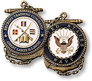 U.S. Navy Recruit Training Command Great Lakes Illinois Challenge Coin from Armed Forces Depot