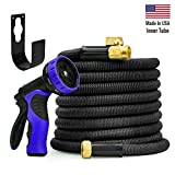 garDspo New World Strongest Expandable Hose With Made In USA Inner Tube, Heavy Duty Expanding Hose Garden Hose Flexible Hose Set (50 FT, Black)