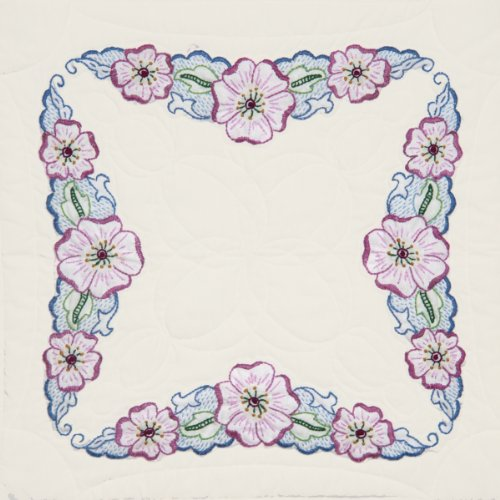 Fairway 98409 Quilt Blocks, Large Flower Design, White, 6 Blocks Per (Design Block Flowers)