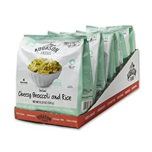 Augason Farms Instant Cheesy Broccoli & Rice Pantry Pouch (6 Pack)