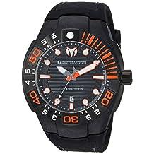 TECHNOMARINE MEN'S REEF 48MM BLACK SILICONE BAND QUARTZ ANALOG WATCH TM-515028