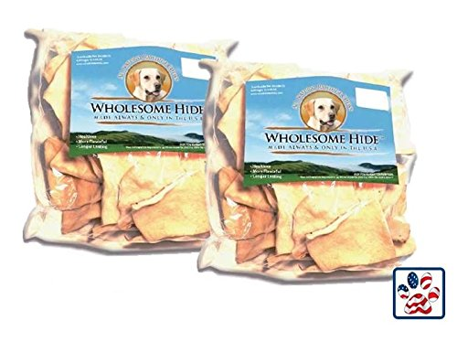 Premium USA Beef Hide - Chips 2 lbs by Wholesome Hide
