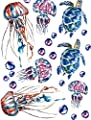 Sea Blue Turtles - 85859 - Ceramic Decal - Enamel Decal - Glass Decal - Waterslide Decal - 3 Different Size Sheet (Images) to Choose from. Choose Either Ceramic (Enamel) or Glass Fusing Decals