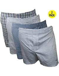Mens 2 Pack Traditional Woven Boxers