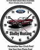 mustang car clock - 1969 FORD SHELBY MUSTANG GT500 WALL CLOCK-FREE USA SHIP