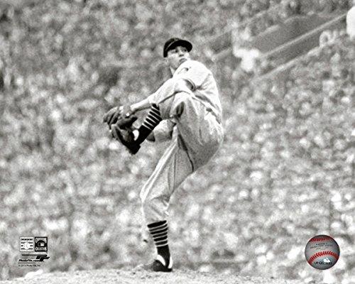 Bob Feller Cleveland Indians MLB Action Photo (Size: 8