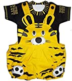 Miss U Baby Boys Baby Girls Kids High Quality Soft cotton Dungaree set With T-shirt (black yellow, 0-6 months)
