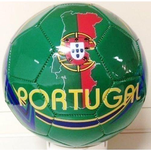 Balón de Fútbol Tamaño.5 Portugal en verde - azul - amarillo ...