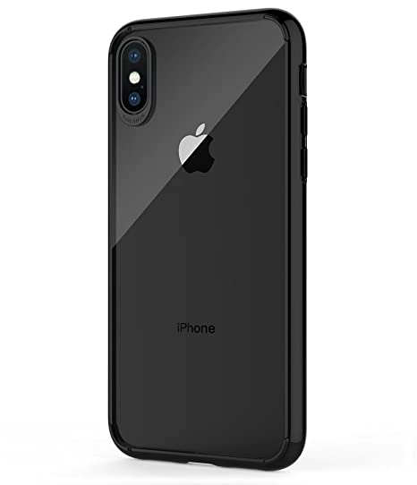 first rate ab574 b5a3d iPhone X Case,Clear Thin Case for Apple iPhone X/10[Slim Fit][Scratch  Resistant][Clear Back],iPhone X Black Case Slim cover,tpu pc phone case for  ...