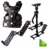 Laing M30PII M30P II loads 4.5-15kg Consists of B10 Camera Stabilizer Sled, V4 Vest, X-28 Arm for Video DSLR With EACHSHOT Cleaning Cloth