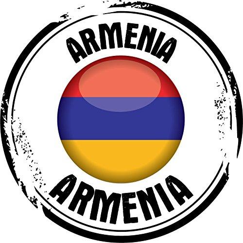 Armenia Flag Grunge Travel Stamp Home Decal Vinyl Sticker 12