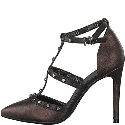 Bordeaux Met 912 Strap Women's 21 Heels Tamaris 24409 Red Ankle 0x8qURHw1