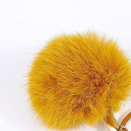 ZOONAI Porte-cl/és en peluche avec pendentif en forme de queue de pompon