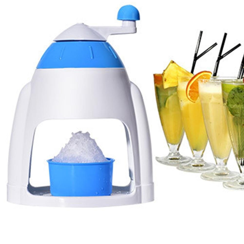 manual ice crusher machine small household mini maker home snowflake smoothie snow hand crank portable non-slip kitchen hand-operated planer freezer
