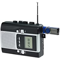 DIGITNOW BM001-US Portable Radio Cassette Recorder, Cassette Tape to Mp3 Converter and Radio to Mp3 Recorder with Voice Recording Feature, Used As a walkman