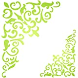 Gothic Corner Stencil - 13.5 x 17.5 inch (L) - Reusable Flourish Filigree Wood Large Wall Stencils for Painting - Use on Paper Projects Scrapbook Journal Walls Floor Fabric Furniture Glass Wood etc.