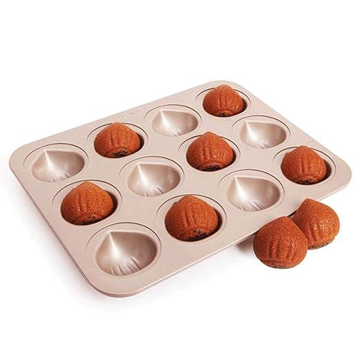 Muffa ciambella Molde Donuts moldes Silicona Oro de 12 Tazas ...