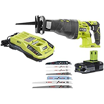 Ryobi p516 18v cordless one variable speed reciprocating saw w 2 ryobi p516 18 volt one cordless reciprocating saw with dual chemistry intelliport charger compact lithium battery and bosch 7 pack carbon and bi metal keyboard keysfo Image collections