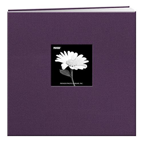Pioneer 12-Inch by 12-Inch Fabric Frame Scrapbook, Wildberry (Purple Post)