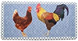 Stephan Roberts Premium Anti-Fatigue Kitchen Mat, 20'' x 39''x.5'', Blue Rooster/Multicolored
