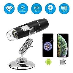 Wireless Digital Microscope,Leanking 0X-...