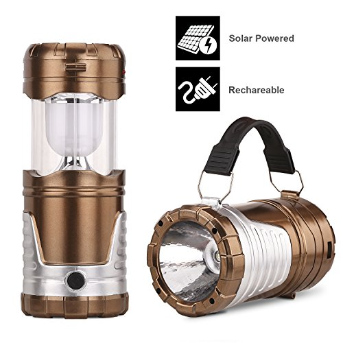 Camping Lantern,Gright® Camping Lantern Flashlights,Collapsible Solar Lanterns Rechargeable LED Lantern Camp Lights Table Lamp for Outdoor, Fishing, Blackout (Golden)