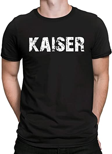 Kaiser, Camiseta para Hombre Manga Corta Hombre Camisetas Cuello Redondo Moda Camisetas, Negro: Amazon.es: Ropa y accesorios