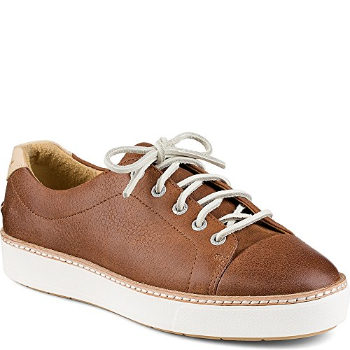 Sider Leather Sperry Tie Top (Sperry Top-Sider Women's Gold Cup Cruz Lace up,Dark Tan Leather,US 9.5 M)