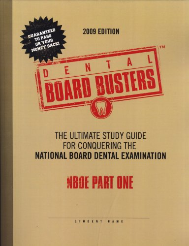 :The Ultimate Guide for Conquering the National Board Dental Examination, NBDE Part One ()