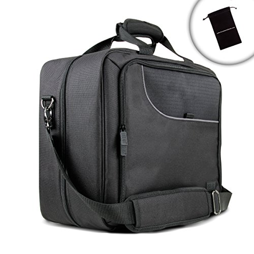 USA GEAR Hairdresser Stylist Tote Bag with Padded Shoulder Strap , Accessory Pockets & Adjustable Interior Dividers - Great for Blow Dryers , Curling / Straightening Irons & More Tools & Equipment! (Hair Stylist Carrying Case)