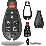 KeylessCanada © 1 New Keyless Entry 7 Buttons Remote Start Car Key Fob M3N5WY783X, IYZ-C01C For Chrysler Town Country Dodge Grand Caravan Volkswagen Routan SHELL/CASE ONLY