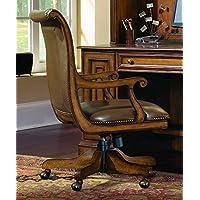 Hooker Furniture Brookhaven Desk Chair in Medium Clear Cherry