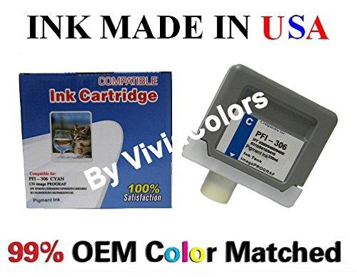 Compatible PFI-306 ink cartridges Set of 12 for ipf 8300 ipf8400 ipf9400