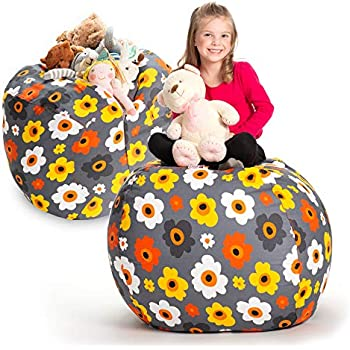 creative qt stuffed animal storage bean bag chair extra large stuff 39 n sit. Black Bedroom Furniture Sets. Home Design Ideas