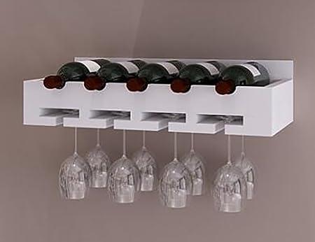 Wine Rack Zcjb Wooden Wood Wall Mounted Wine Shelf Wine Glass Rack
