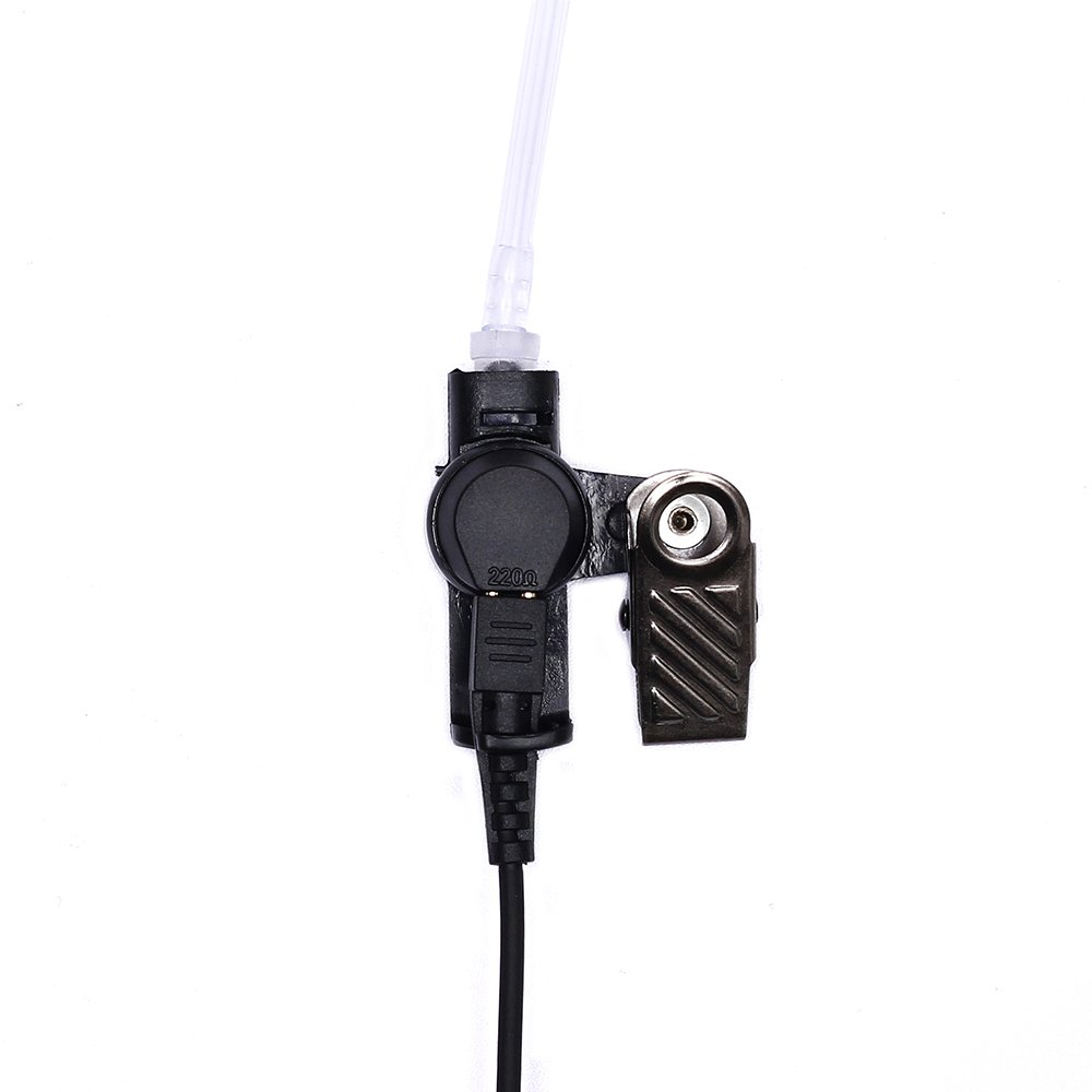 Caroo 2-Wire Clear Coil Surveillance Kit for Motorola MTP850 MOTOTRBO XPR-6550 XPR-7580 APX-4000