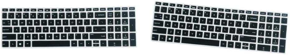 2Pcs Durable Anti-Dust Keyboard Cover Soft Silicone Skin Film for HP 15.6 Inch BF