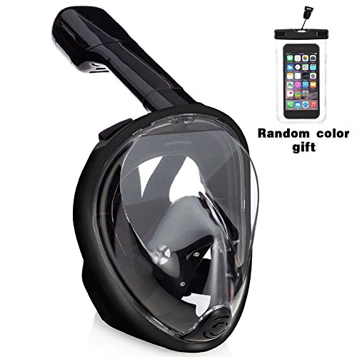 Easy Breath Surface Scuba Mask Full Face Design For Action Camera (Black) - 8