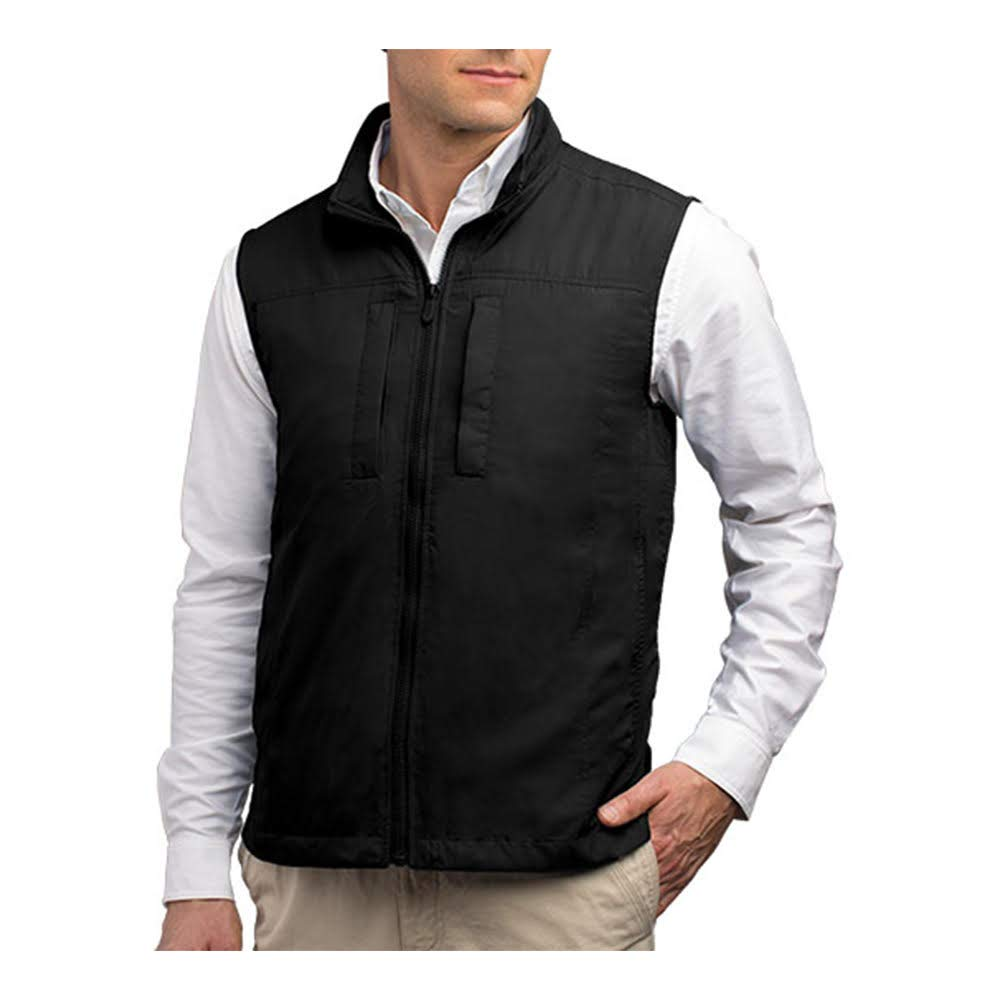 SCOTTeVEST Featherweight Men - Lightweight Vest - Travel - Utility - Safari Vest (BLK XL) by SCOTTeVEST