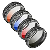 Neewer Camera Lens Graduated Color Filter Kit for DJI Phantom 4 Pro Drone Quadcopter: Graduated Orange, Blue, Red, Grey Filter, Made of HD Optical Glass and Aluminum Alloy Frame