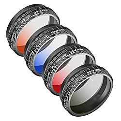 Neewer Camera Lens Graduated Color Filter Kit For Dji Phantom 4 Pro Drone Quadcopter: Graduated Orange, Blue, Red, Grey Filter, Made Of Hd Optical Glass & Aluminum Alloy Frame