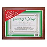 Nudell 18813M Award-A-Plaque Document Holder, Acrylic/Plastic, 10-1/2 x 13, Mahogany
