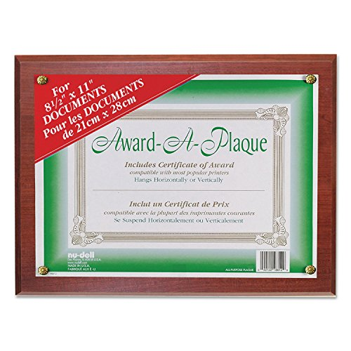 Acrylic Blank Award - Nudell 18813M Award-A-Plaque Document Holder, Acrylic/Plastic, 10-1/2 x 13, Mahogany